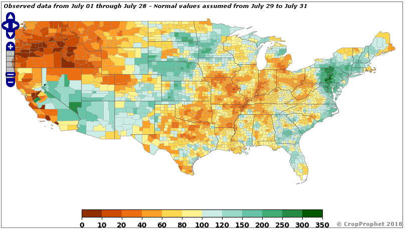 July Ag Weather Precipitation