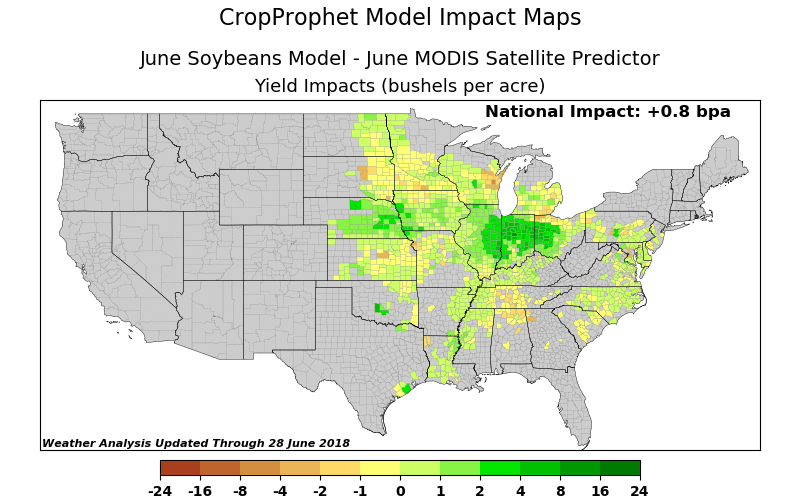 June NDVI results for Soybeans