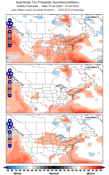 MME Forecast Progression: Midwest Heat Wave 2020