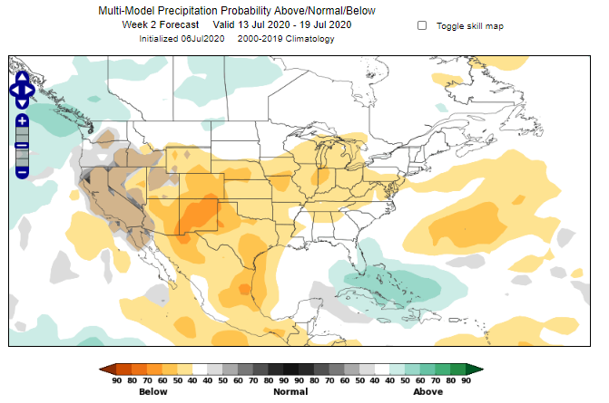 Midwest Heat Wave - Precipitation forecast