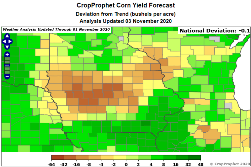 Impacts of the 2020 Iowa Drought