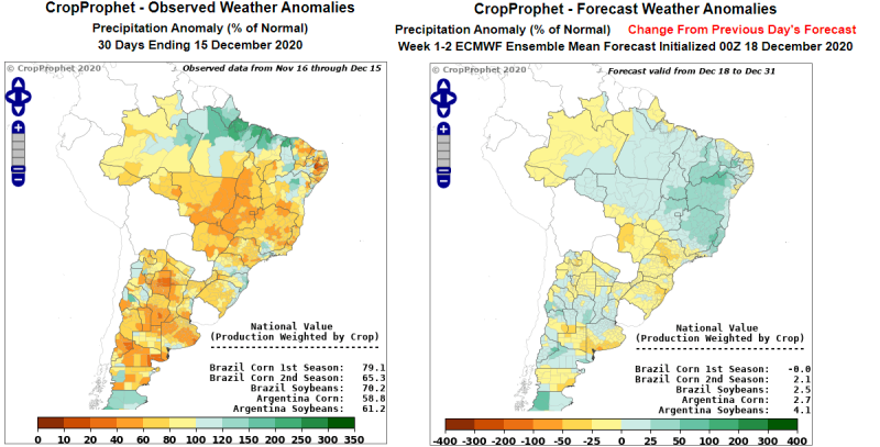 Argentina Crop Weather Forecast: An Example